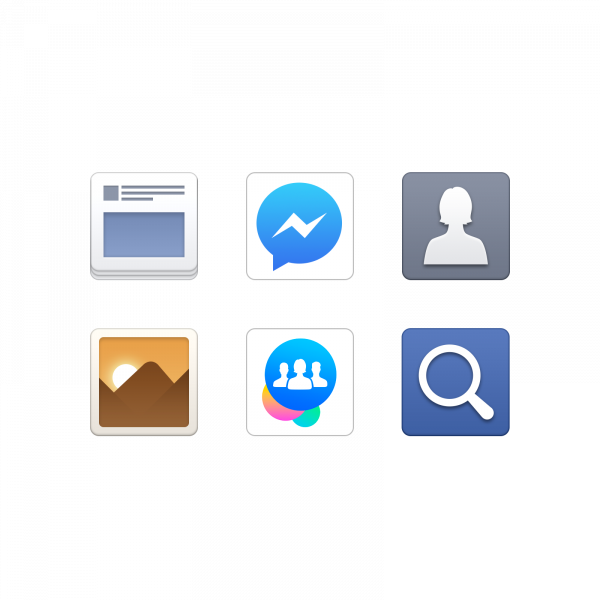 Facebook App and Service Icons