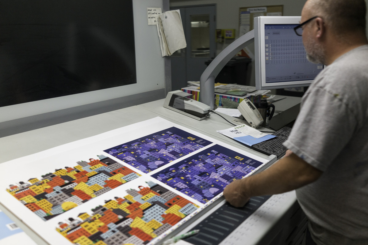 On Press at Hemlock Printers in Burnaby, BC